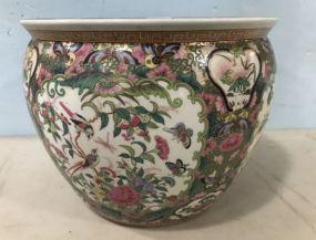 Chinese Porcelain Fish Bowl Planter