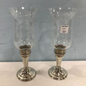Frank M. Whiting Sterling Candle Holders