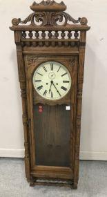 Henry Ford Museum Oak Long Case Wall Clock