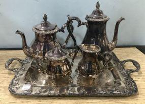 Silver Plate Tea Service Set