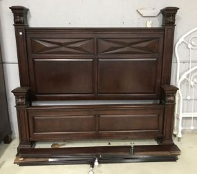 Large New Forest Dark Stain Mini Post Bed