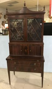 Federal Hepplewhite Inlaid Secretary Desk