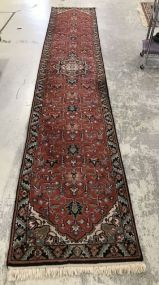 Indo-Persian Hand Knotted Runner