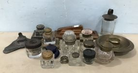 Assorted Collection of Antique and Vintage Ink Wells