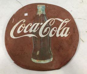 Vintage Coca Cola Button Sign