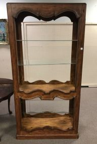 Country French Style Open Display Case