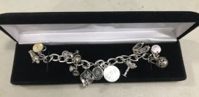 Marked Sterling Charm Bracelet
