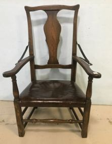 Antique Oak Recliner Arm Chair