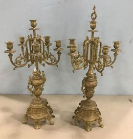 Vintage French Style Candelabras