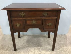 1980s Vintage Hekman Cherry Banded Console Table