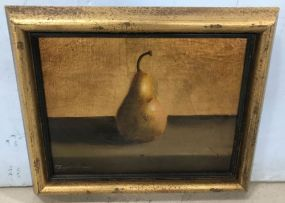 Antique Style Giclee Painting of Still Life Pear