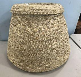 Tarahumara Double Wall Agave Corn Storage Basket
