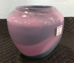 Fred Lancaster Art Glass Vase