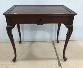 Walnut Queen Anne Shell Reproduction Tea Table