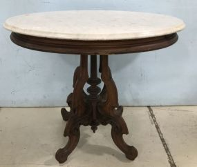 Victorian Style Marble Top Parlor Table