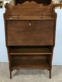 Antique Drop Front Oak Secretary Desk