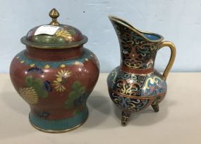 Cloisonne Vase and Jar
