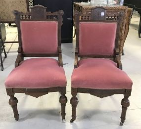 Pair of Eastlake Parlor Chairs