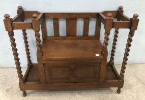 Antique Reproduction Barley Twist Hall Seat