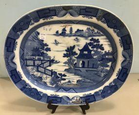 Vintage Blue & White Platter