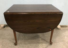 Vintage Oak Drop Leaf Dinning Table