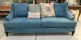 Modern Turquoise Fabric Sofa