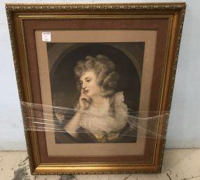 Mezzotint of Mrs. Braddyll by Sir Joshua Reynolds
