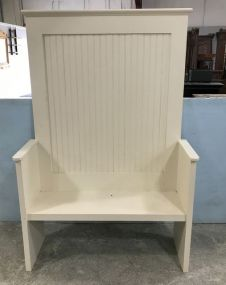 Modern White Hall Bench