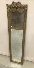 French Gold Gilt Trumeau Mirror