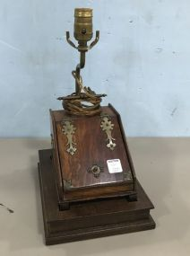 English Wood Lamp with Box