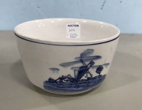 Delft Blue Pottery Bowl