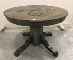 Vintage Painted Round Dinning Table