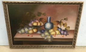 Large Oil Painting Still Life Grapes