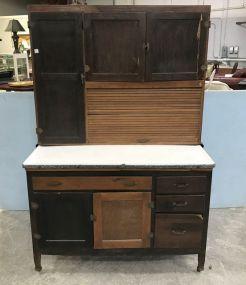 Vintage Two Piece Hoosier Cabinet