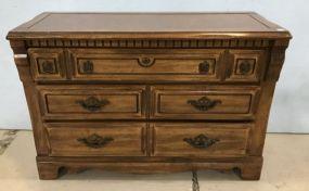 Vintage Early American Style Oak Finish Dresser
