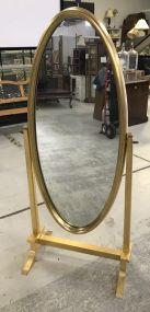 Modern Gold Gilt Cheval Mirror