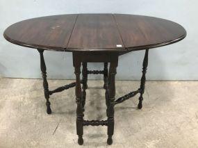 Vintage Gate Leg Oval Table