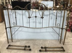 Vintage Iron King Size Bed