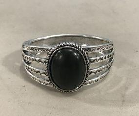 New Southwest Style Silver Tone Faux Stone Bracelet