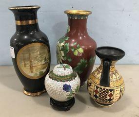 Cloisonne Vases, Japanese Vase, Grecian Vase