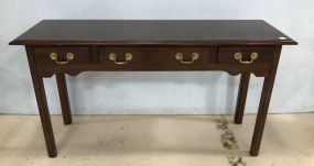 Modern Cherry Finish Wall Console Table