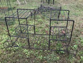 Metal Wire Planter Cart