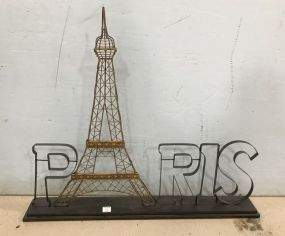 Metal Paris Decor Plaque