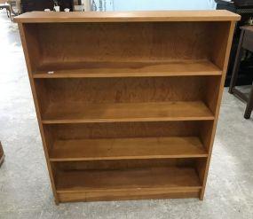 Four Shelf Wood Bookcase