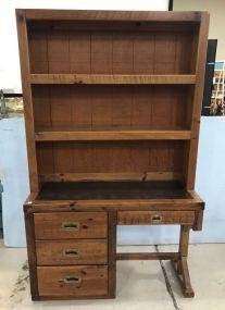 Vintage Young Hinkle Desk Bookcase