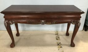Modern Chippendale Ball-n-Claw Sofa Table