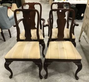 Four Cherry Queen Anne Dinning Chairs
