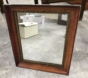 Antiqued Painted Framed Mirror