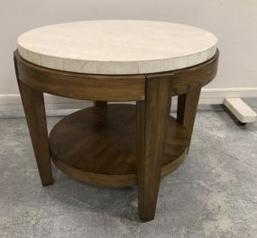 Mid Century Style Oval Lamp Table