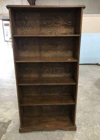 Five Shelf Wood Bookcase